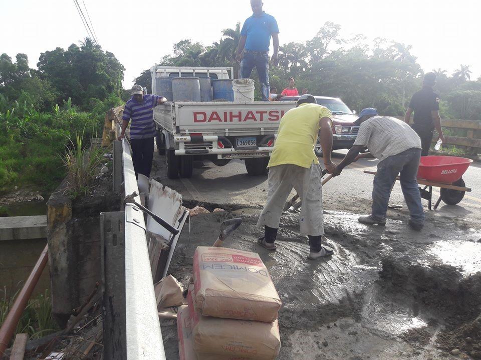 Alcaldía Municipal dispone arreglo puente Río Cuaba